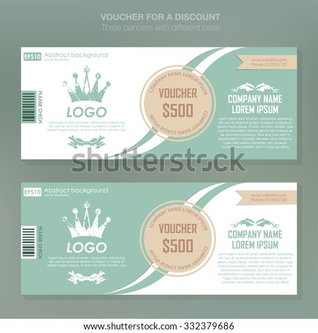 Gift voucher template with premium pattern,cute gift voucher certificate coupon design template. Certificate business card, banner card poster. Vector illustration for black friday - stock vector