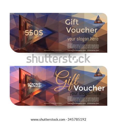 Gift voucher template premium pattern envelope stock for Hotel voucher design