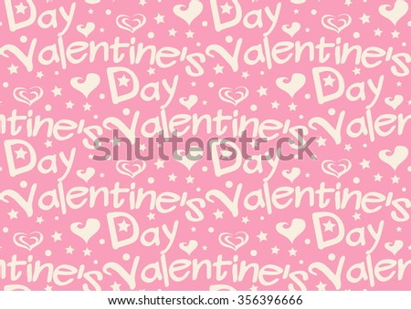 Gift Wrapping Paper / Valentine / Happy Valentines Day / Valentines Day / Valentines Day Background / Valentines Day Card / Valentine Heart / Valentine Seamless / Valentine Pattern / Pink / Vector - stock vector