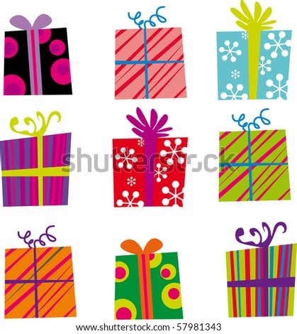 Gifts - stock vector
