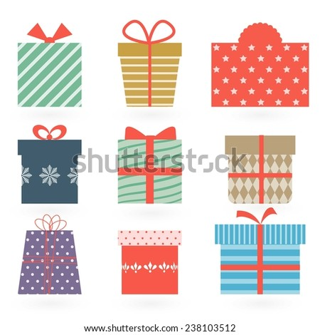 Gifts boxes. - stock vector