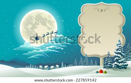 Gifts of winter  - stock vector