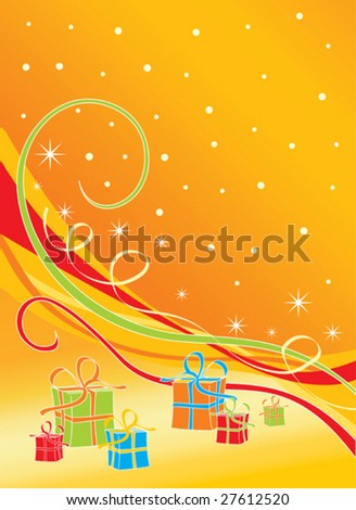Gifts - Vector Christmas Background