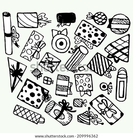 Gifts vector set