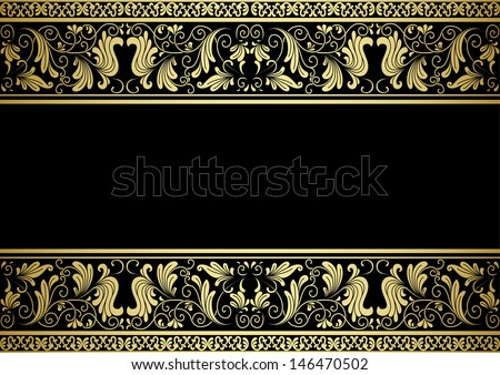 Gilded frame with decorative elements in retro style for design. Jpeg version also available in gallery - stock vector