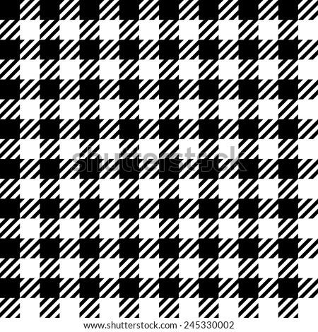 Gingham pattern, seamless vector. - stock vector