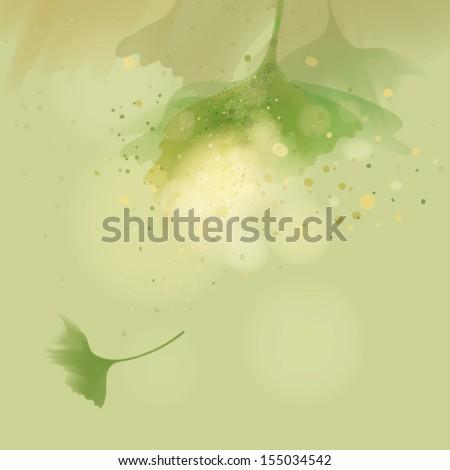 Gingko biloba / Autumn abstract leaves   - stock vector