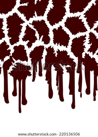 Giraffe Abstract Background in Brown and White With Stains and Copyspace - stock vector