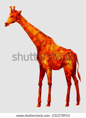 Giraffe (vector illustration) - stock vector