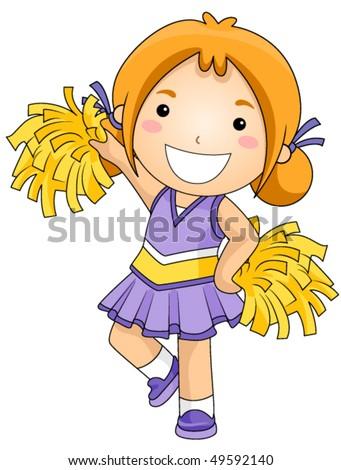 Girl Cheerleader - Vector - stock vector