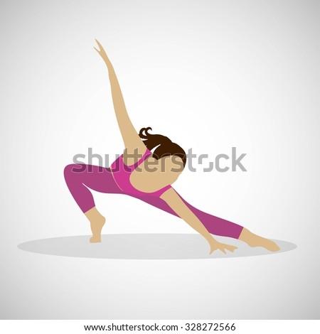 Girl dancing modern dance  vector illustration isolated. - stock vector