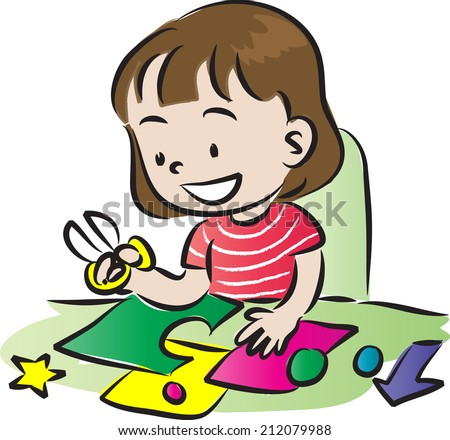 Girl Doing Art And Craft