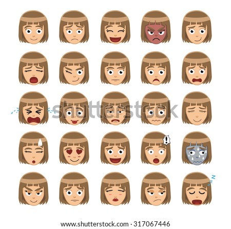 Worksheets Emotion Faces emotions faces stock photos royalty free images vectors girl emotion cartoon vector illustration 1