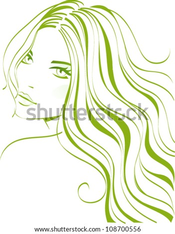 Girl hairstyle - stock vector