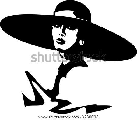 girl in hat - stock vector