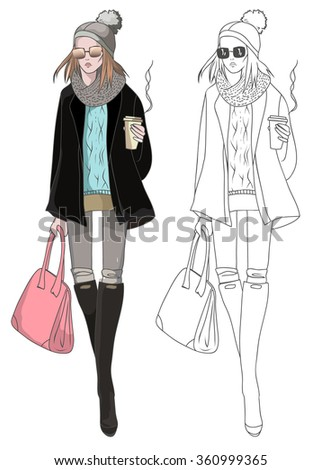 Winter Fashion Sketch | www.pixshark.com - Images Galleries With A Bite!