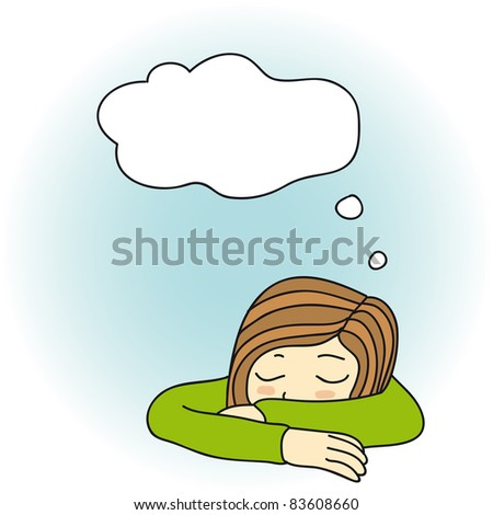 girl is sleeping laying her head on hands