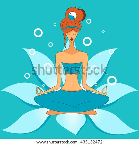girl meditating in the lotus position