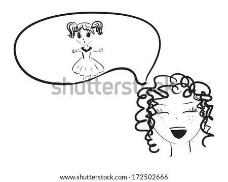 girl rejoices about the child - stock vector