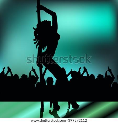 girl.striptease - stock vector