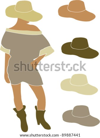 girl - vector - stock vector