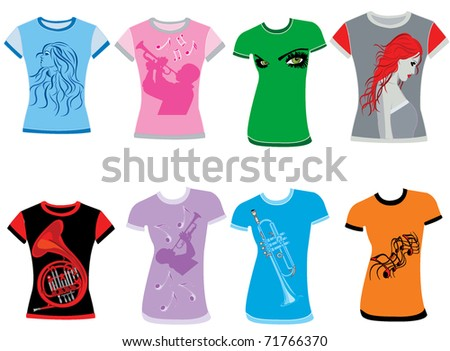 Girls shirt - stock vector