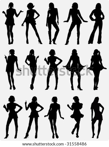 Girls silhouette 6