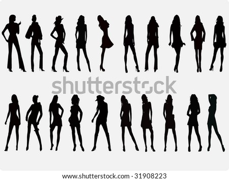 Girls silhouette 8