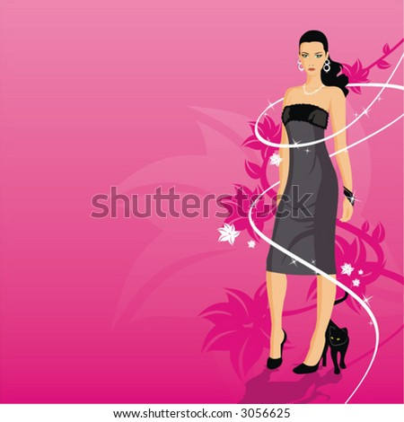 girls vector beauty people illustration woman females human fashion