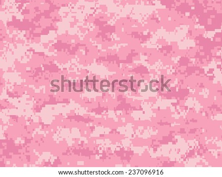 Girly Camo pixels - stock vector