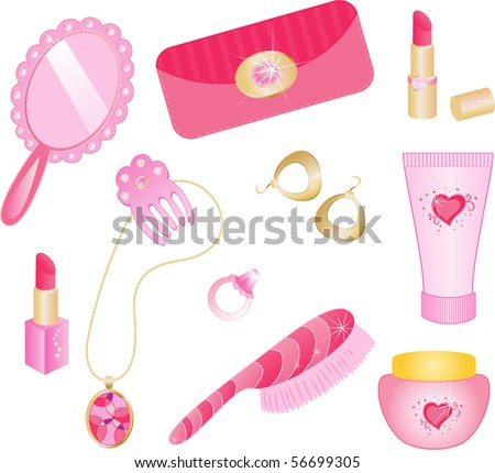 Girly Icon Set.