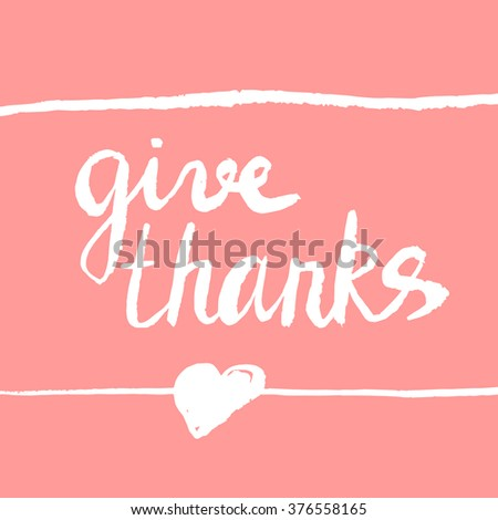 Give Thanks Card Template Your Design Stock Vector 376558165 ...