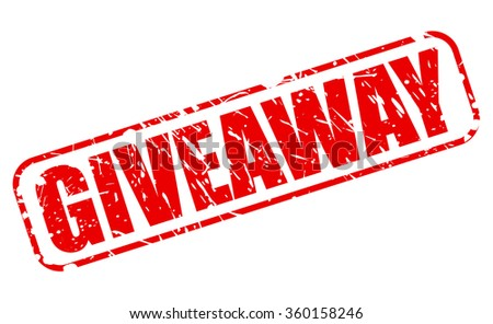 Giveaway red stamp text on white - stock vector