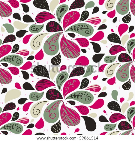 Glamour floral seamless pattern for bright wallpapers - stock vector