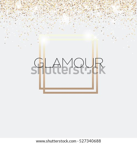 Glamour invitation card fashion show vip stock vector 527340688 glamour invitation card fashion show vip gold glitter background vector illustration stopboris Images