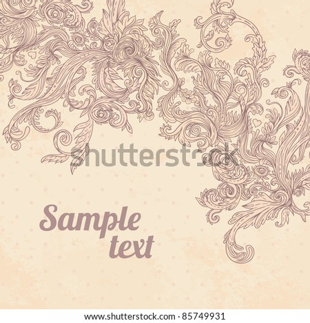 Glamour vector vintage background