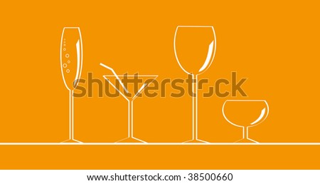 Glass - stock vector