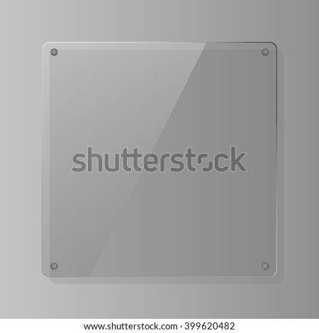 glass - stock vector