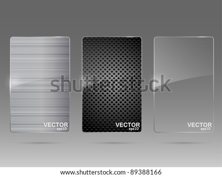 Glass and metal framework set. Vector illustration. - stock vector