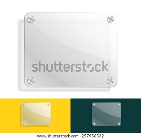 glass background with color variations - stock vector