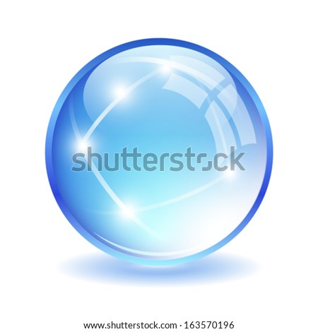 Glass ball illustration