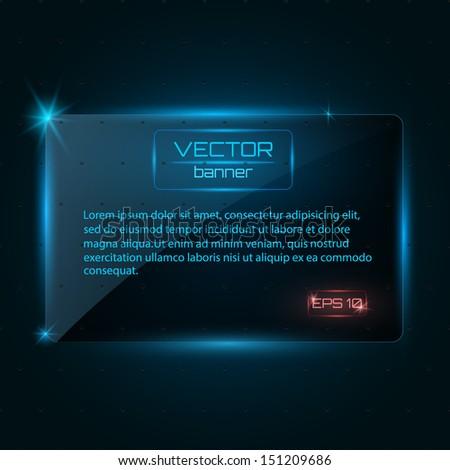Glass banner. Vector illustration - stock vector