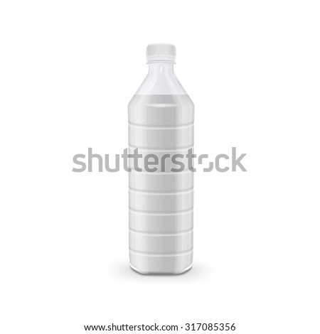 glass beverage bottle isolated on white background - stock vector