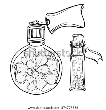 Poison bottle coloring pages for Coloring pages of bottles