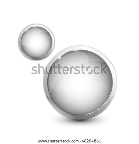 Glass buttons - stock vector