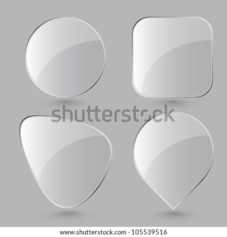 Glass buttons. Vector illustration. Eps8. - stock vector