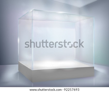 Glass-case. Vector illustration. - stock vector