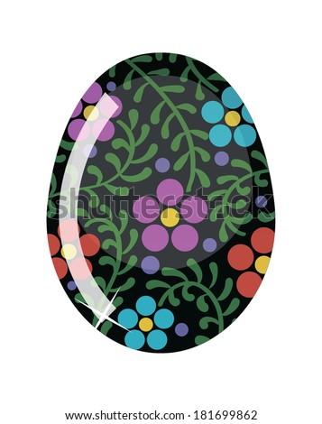 Glass Easter egg. Vector illustration - stock vector