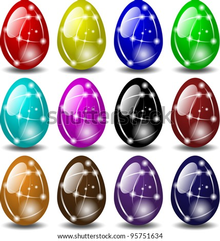 glass Easter eggs
