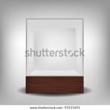 Glass exhibition spot for presentation - stock vector